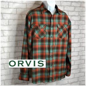 Orvis BEAUTIFUL Flannel Long Sleeve Shirt (L)